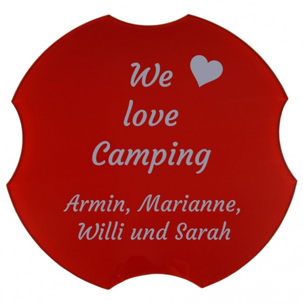 Spülbeckenabdeckung, We love Camping, Ø 30,8 cm