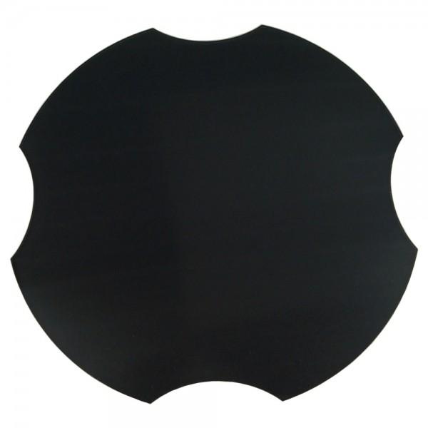 Spülbeckenabdeckung, ohne Spruch/Gravur, schwarz, Ø 30,8 cm