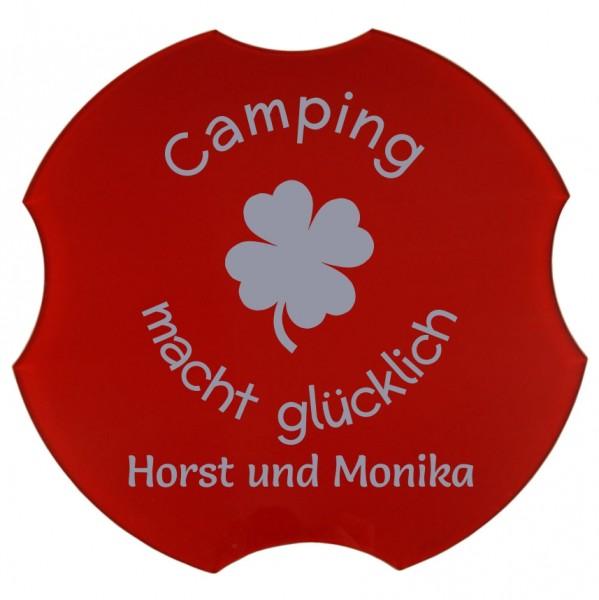 Spülbeckenabdeckung, Camping macht glücklich, Ø 30,8 cm