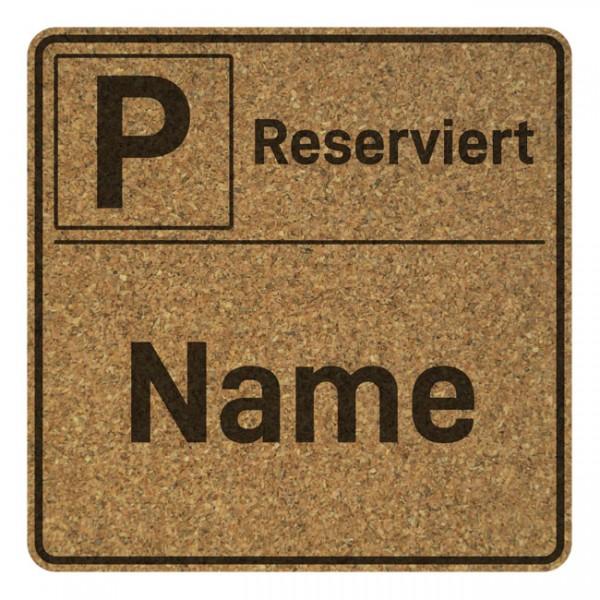 Korkuntersetzer 4er Set mit Namensgravur Parken