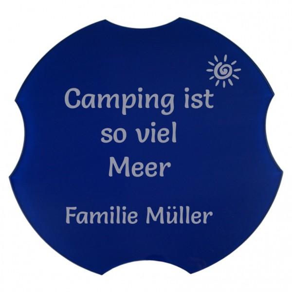 Spülbeckenabdeckung, Camping ist so viel Meer, Ø 30,8 cm