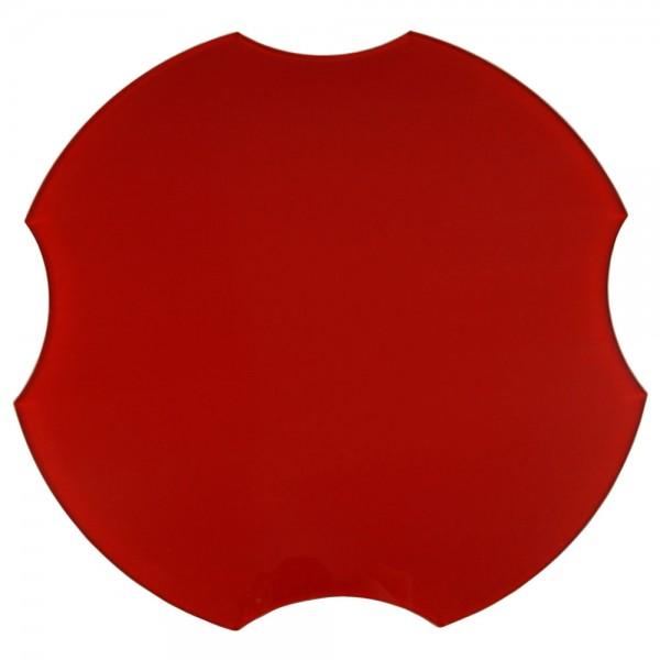 Spülbeckenabdeckung, ohne Spruch/Gravur, rot, Ø 30,8 cm
