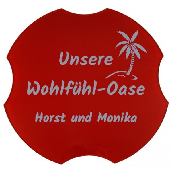 Spülbeckenabdeckung, Unsere Wohlfühl-Oase, Ø 30,8 cm