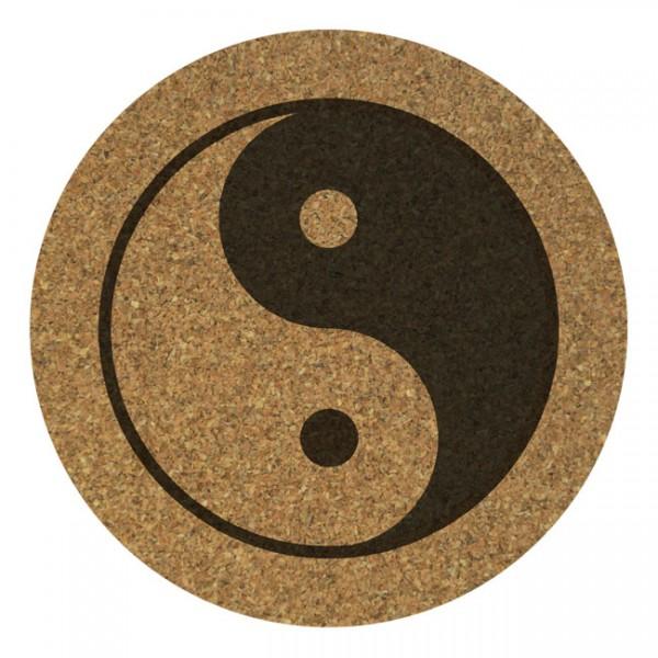 Korkuntersetzer 4er Set: Yin & Yang
