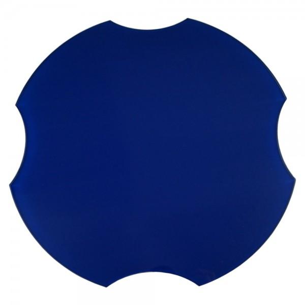 Spülbeckenabdeckung, ohne Spruch/Gravur, blau, Ø 30,8 cm